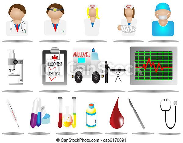 hospital icons,medical care icon se - csp6170091