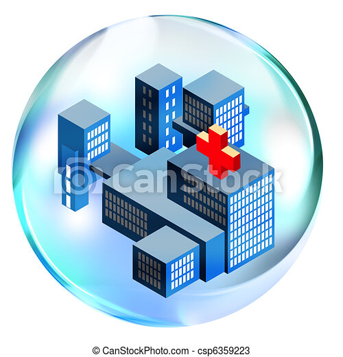 Hospital in bubble - csp6359223