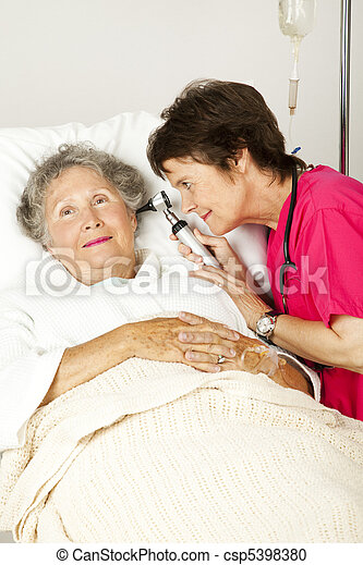 Hospital Patient Ear Check - csp5398380