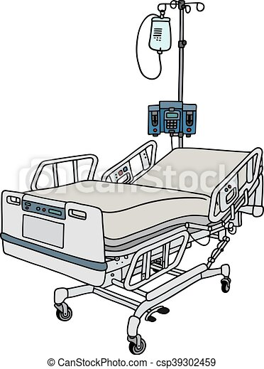 Hospital position bed. Hand drawing of a hospital position ...