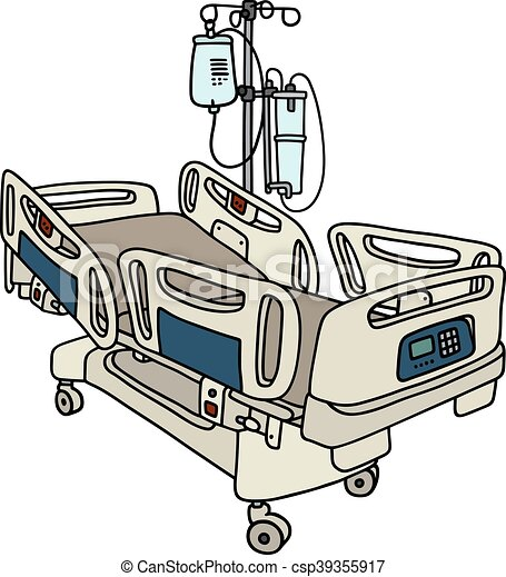 Hospital Position Bed Hand Drawing Of A With
