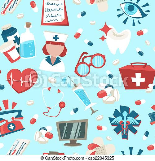 Hospital seamless pattern - csp22045325