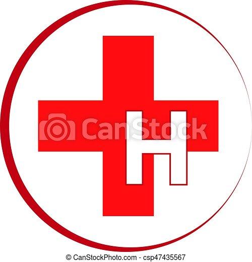 Hospital symbol isolat...