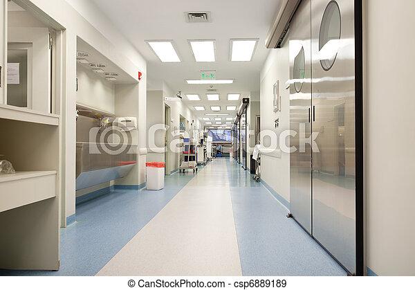 hospital, vacío, pasillo - csp6889189