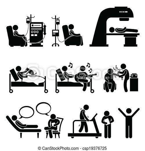 hospitalar, terapia, tratamento médico - csp19376725
