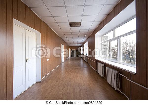 hospitalar, vazio, corredor - csp2824329