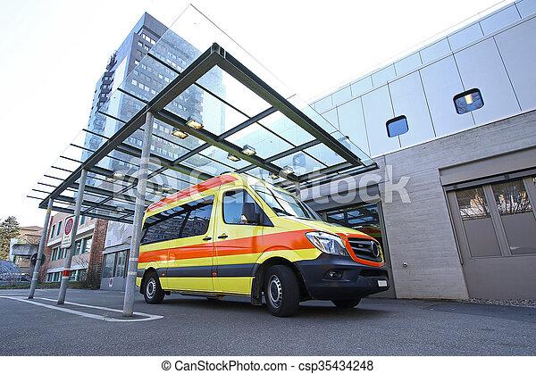 Hospital's emergency room entrance - csp35434248