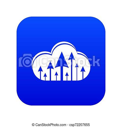 Hosting cloud icon blue - csp72207655