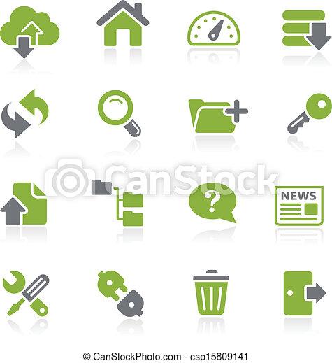 Hosting Icons -- Natura Series - csp15809141