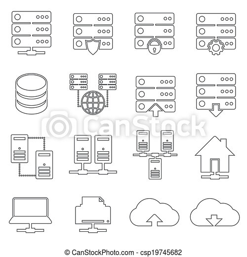 Hosting Network Icons - csp19745682