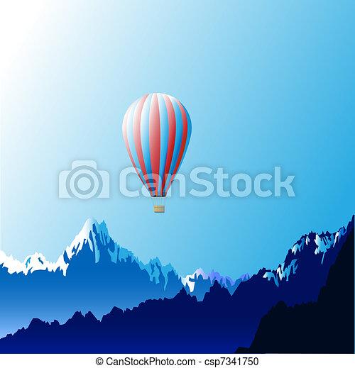 Hot air ballon - csp7341750