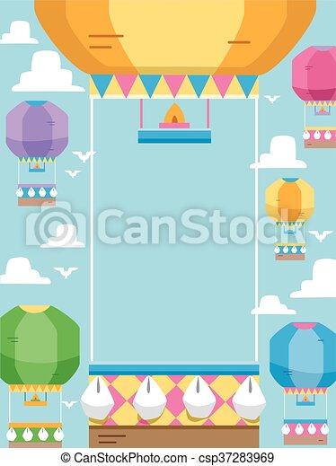 Hot Air Balloon Frame Frame Illustration Featuring Hot Air Balloons