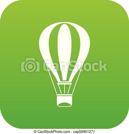 Hot air balloon icon digital green - csp59451271