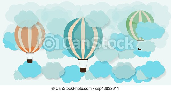 hot air balloon in the sky - csp43832611