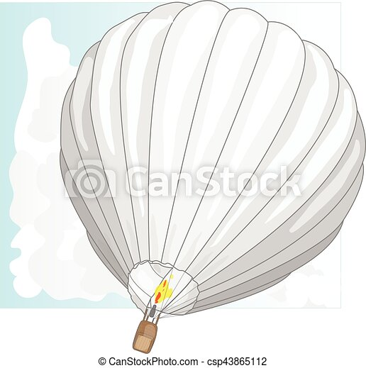 Hot Air Balloon / montgolfier vector - csp43865112