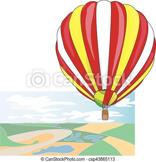 Hot Air Balloon / montgolfier vector - csp43865113