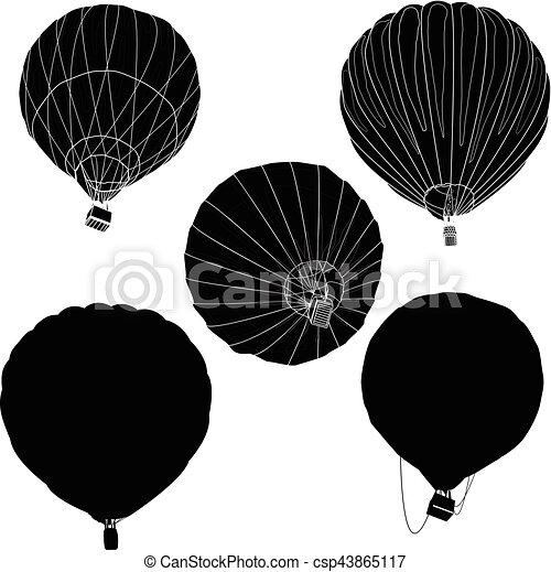 Hot Air Balloon / montgolfier vector - csp43865117