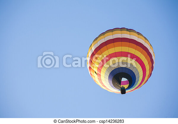 Hot Air Balloon on sky - csp14236283