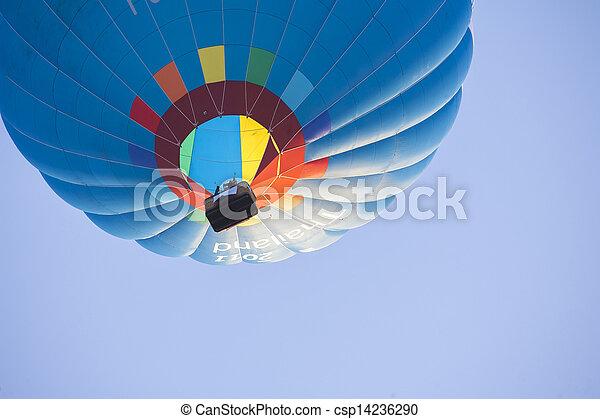 Hot Air Balloon on sky - csp14236290
