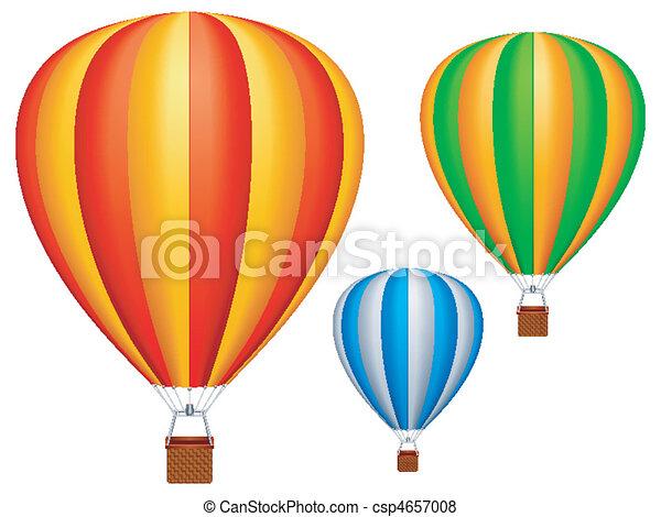 Hot air balloons. - csp4657008
