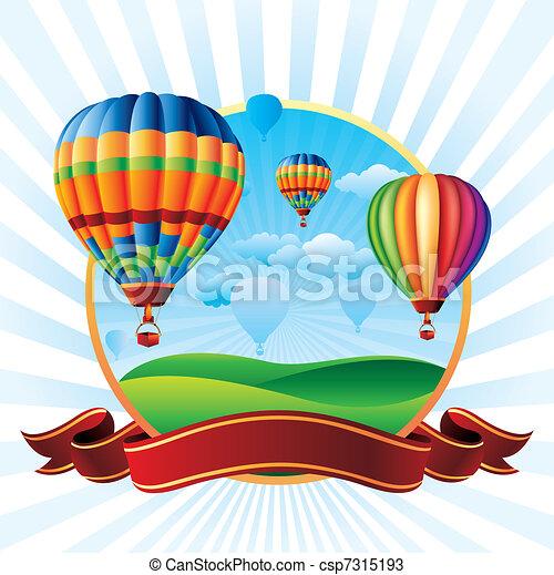 hot air balloons - csp7315193