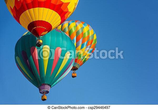 Hot air balloons - csp29446497