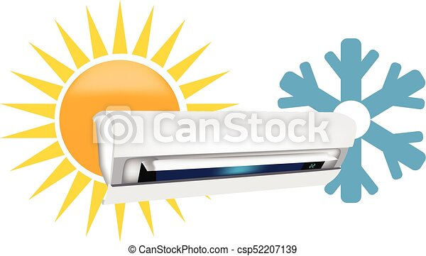hot and cold air conditioners vectors search clip art rh canstockphoto com hot and cold things clipart hot and cold things clipart