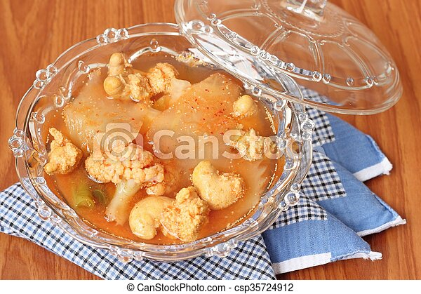 Hot and Spicy Curry of Water orange with fish - csp35724912