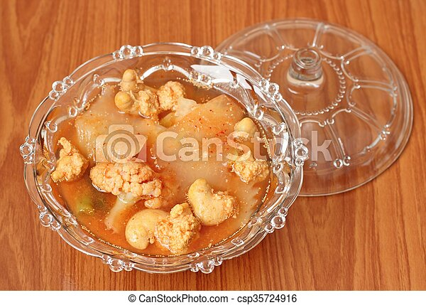 Hot and Spicy Curry of Water orange with fish - csp35724916