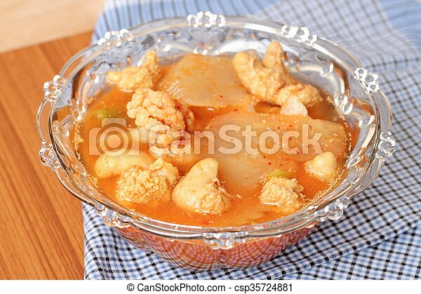 Hot and Spicy Curry of Water orange with fish - csp35724881