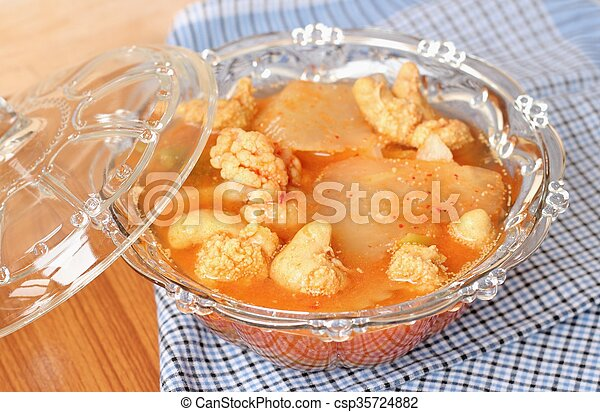 Hot and Spicy Curry of Water orange with fish - csp35724882