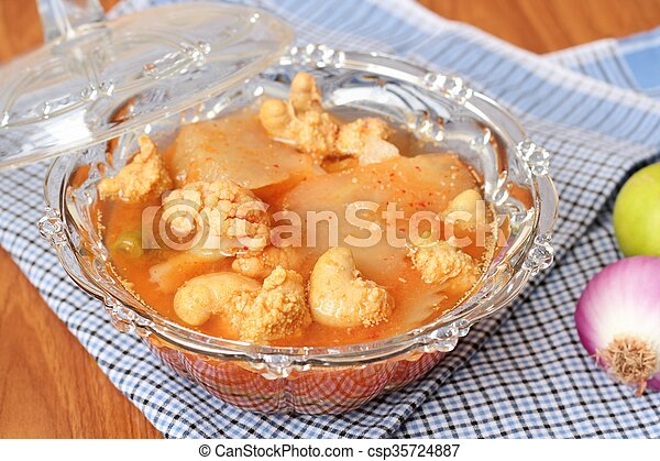 Hot and Spicy Curry of Water orange with fish - csp35724887