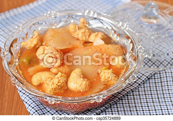 Hot and Spicy Curry of Water orange with fish - csp35724889