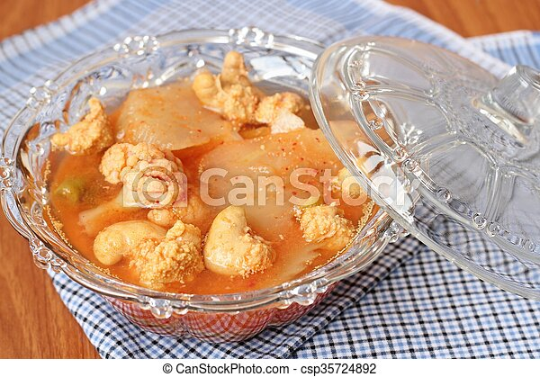 Hot and Spicy Curry of Water orange with fish - csp35724892