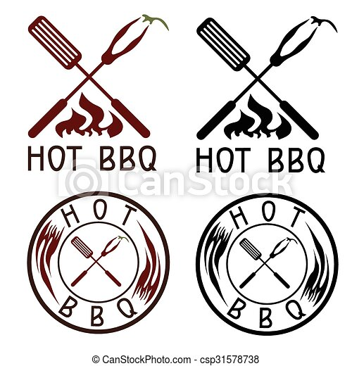 hot bbq grill vector labels collection rh canstockphoto com bbq victor idaho bbq victorville