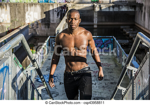 Hot buff black men