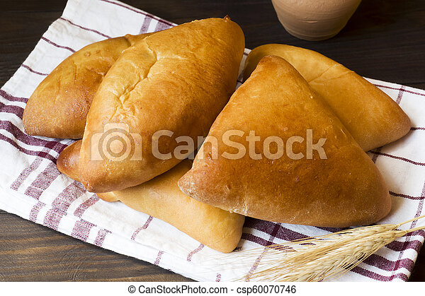 Hot cakes, butter cakes, traditional Russian food