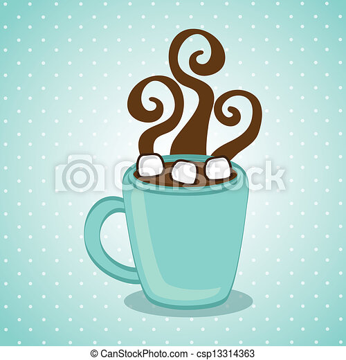 hot chocolate mug clipart. vector - hot chocolate mug clipart