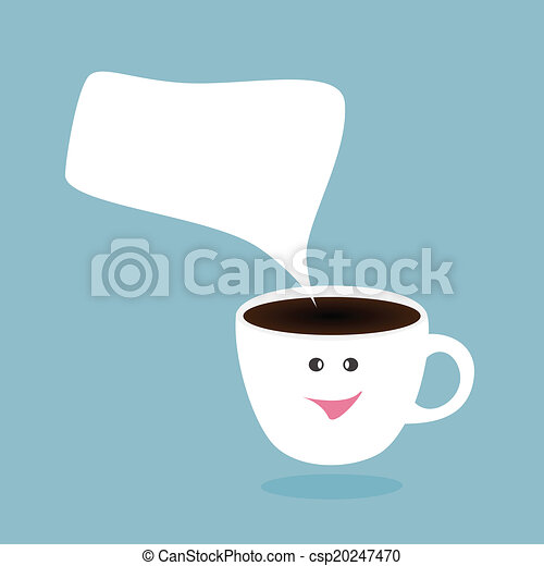 Hot Coffee Cup And Bubblehappy Break Vector
