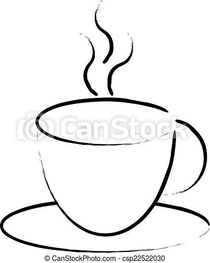 Hot Coffee Cup Symbol Vectors Search Clip Art Illustration