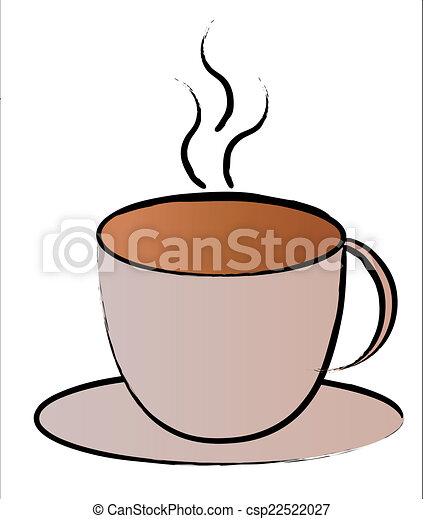 Hot Coffee Cup Symbol Vector Illustration Search Clipart Drawings
