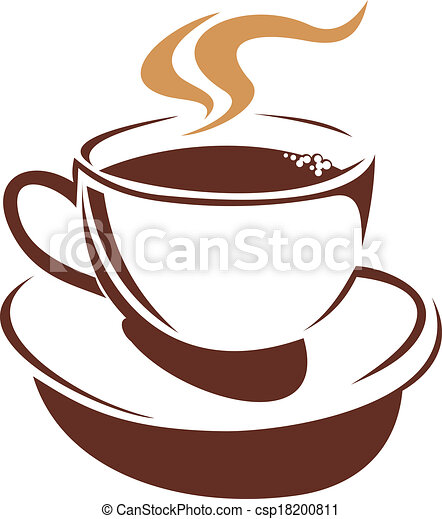 vector doodle sketch in shades of brown of a delicious hot vector rh canstockphoto com tea cup vector art tea cup vector image