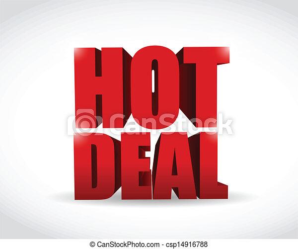 hot deal 3d text illustration design - csp14916788