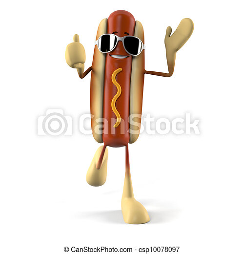 Hot dog character - csp10078097