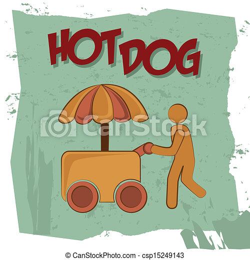 hot dog - csp15249143