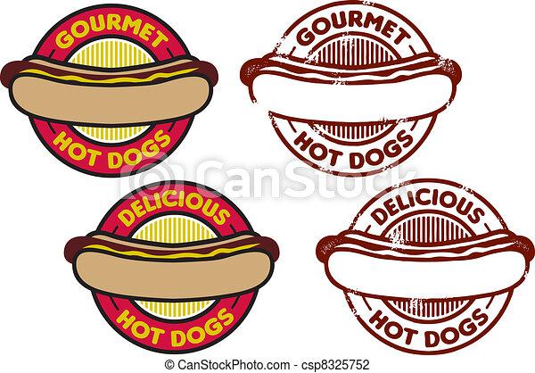 hot dog, grafika - csp8325752