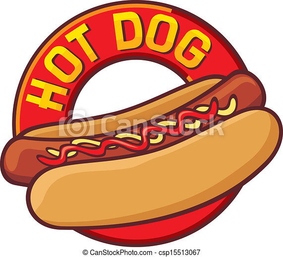 hot dog label clip art vector search drawings and graphics images rh canstockphoto com free cartoon hot dog clipart free hot dog cart clip art
