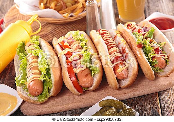 hot dog on board - csp29850733