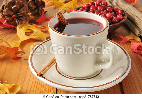Hot mulled cranberry juice - csp21787743