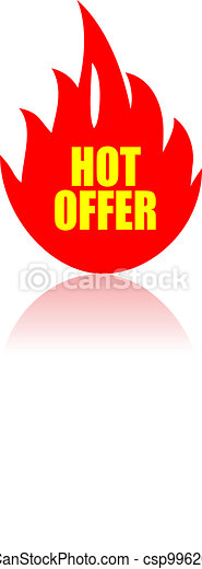 Hot offer icon - csp9962077